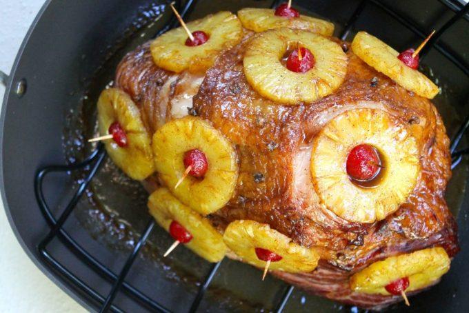 jamón planchado con piña y especias
