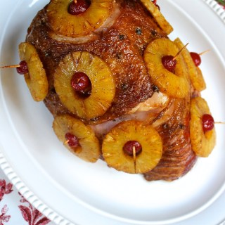 Roasted Ham With Pineapple & Spice Glaze + VIDEO