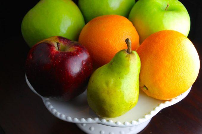 frutas para hacer ponche de navideño de frutas y especias