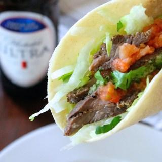 Skinny Carne Asada Tacos