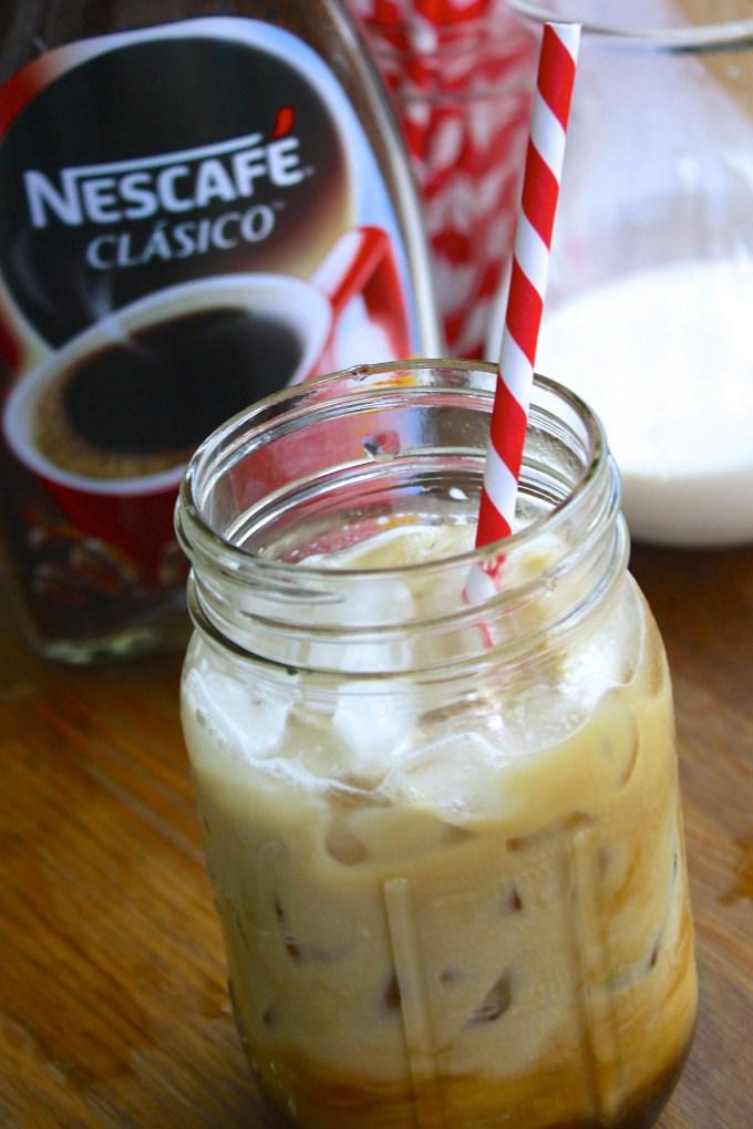 cómo hacer iced coffee, café con hielo, cómo hacer café frío casero, cómo hacer café helado con leche receta