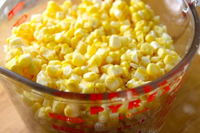 corn kernels to make Venezuelan cachapas with queso de mano