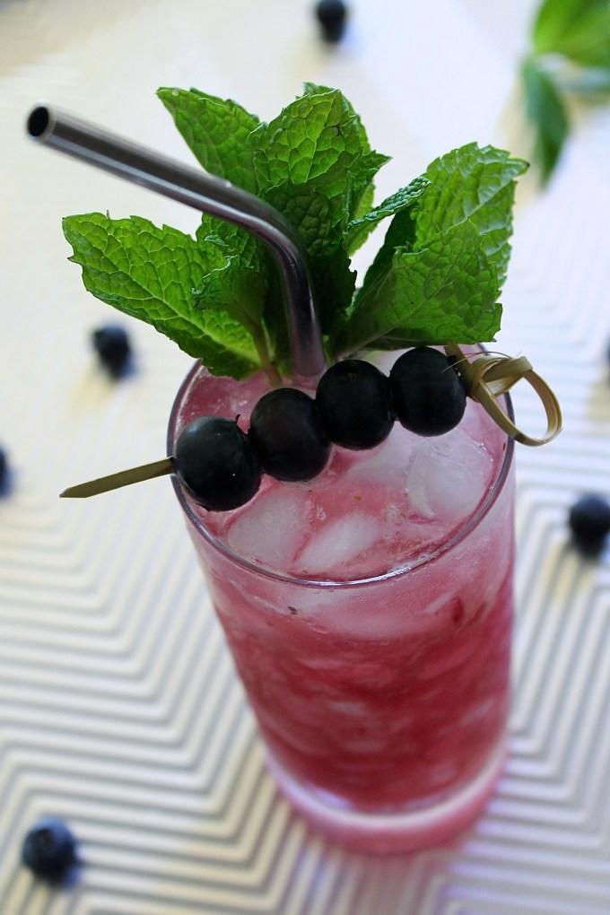 Blueberry and Lavender Mojito by enrilemoine