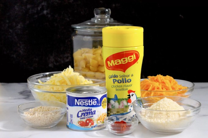 ingredientes para hacer macarrones con queso al horno