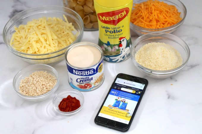ingredientes para hacer mac and cheese