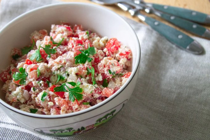 bowl of shanklish salad