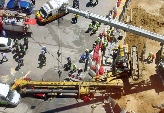 Seguridad Laboral. Accidente Pilotes Metro Madrid Mayo 2005
