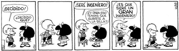 Mafalda Felipe quiere ser ingeniero