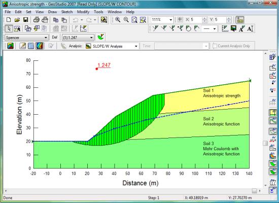 Captura de pantalla de SLOPE/W 2007