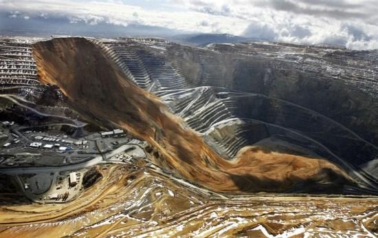deslizamiento de tierras en la mina de cobre de Bingham Canyon