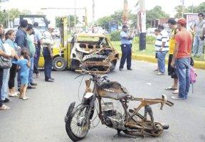 accidente con motocicleta