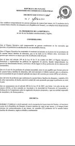 Panamá decreto 1
