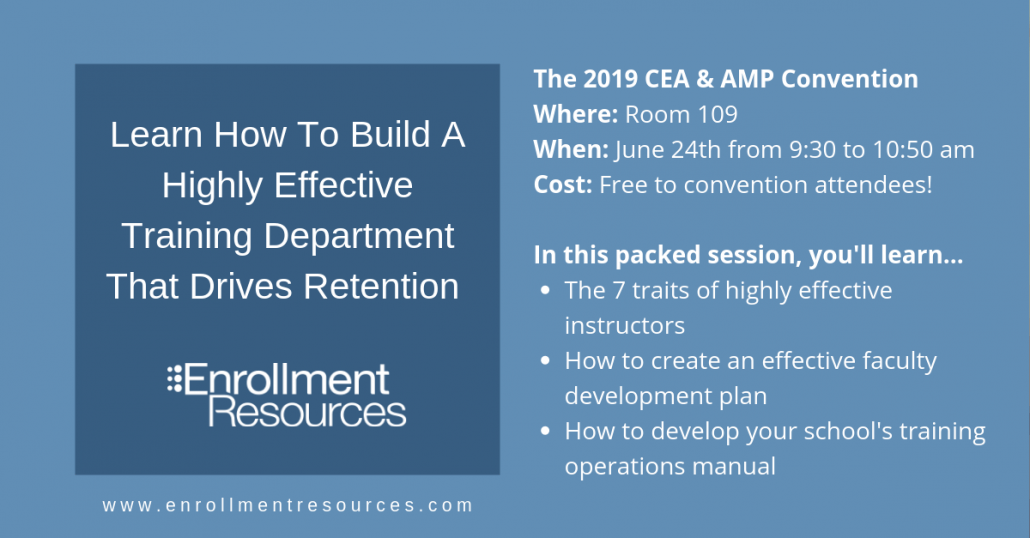 Watch 'Build a Highly Effective Training Department That Drives Retention' at the 2019 CEA & AMP Convention