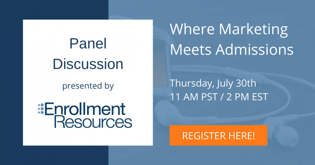 Where Marketing Meets Admissions - Webinar From Enrollment Resources