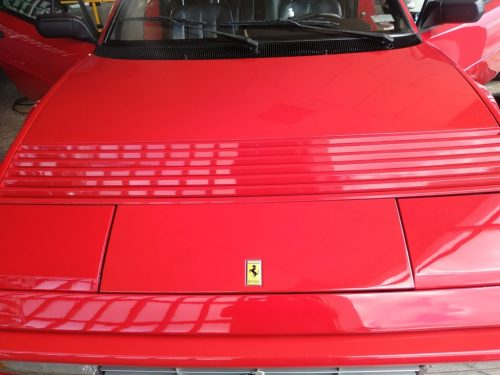Restauracion Ferrari Mondial pulido 4
