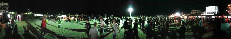 La fête sur la plage de Vama Veche