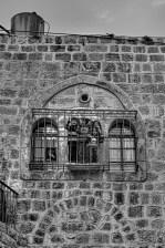Enfants palestiniens à la fenêtre; EAPPI, Mathieu, mars 2015