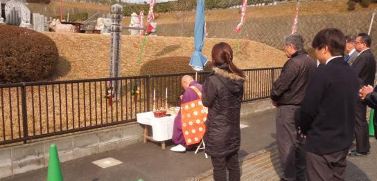 東日本大震災供養法要写真
