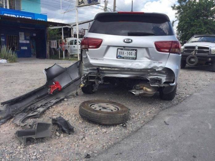 aparatoso accidente