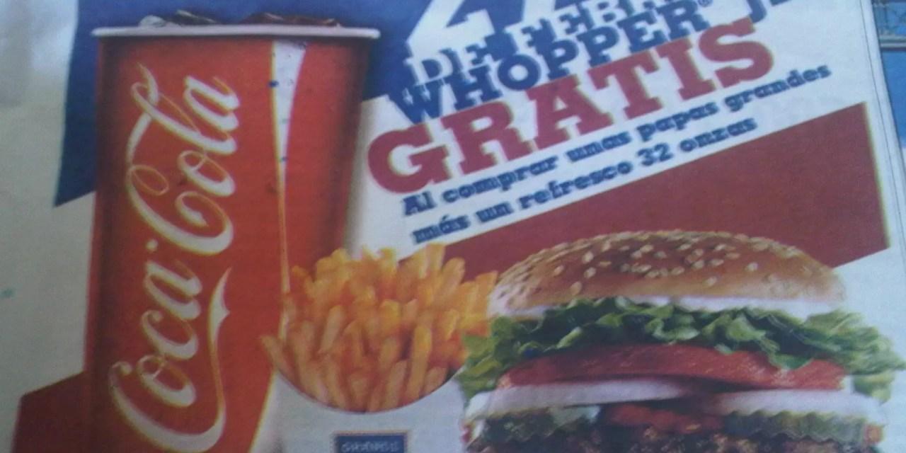 Burger King ofrece hamburguesa gratis el 27 de febrero