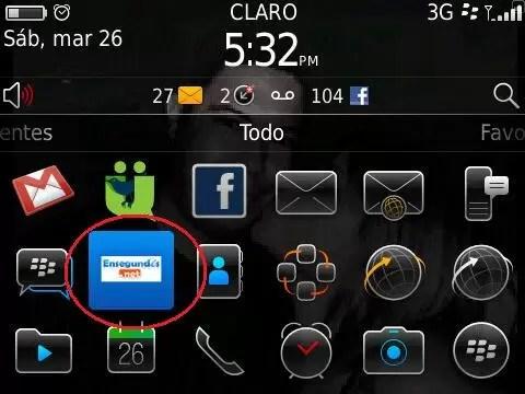 Nueva aplicación de Ensegundos.net para Blackberry