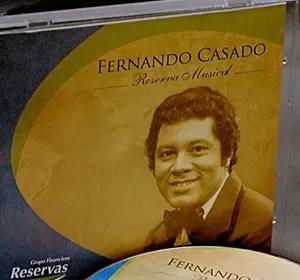 ACROARTE otorgará Casandra al merito para el  cantante Fernando Casado