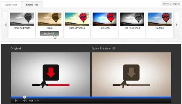 Editar videos y aplicar efectos en Youtube