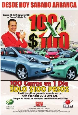 ¿Quienes se ganarán los 100 carros del 100 x 100 de  navidad?