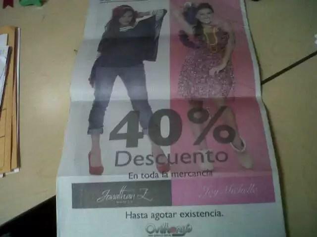 ¿Publicidad engañosa de la tienda Anthonys o un error de imprenta?