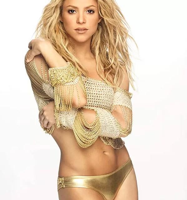 Shakira de oro…..