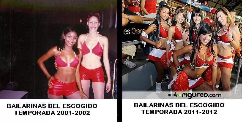 No es lo mismo…….Bailarinas del Escogido en 2001 Vs las bailarinas de la actualidad….