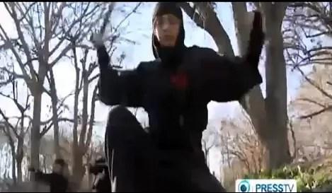 Las mujeres Ninja del ejército de Irán (video)