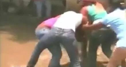 Pleito masivo entre mujeres en La Vega (video)