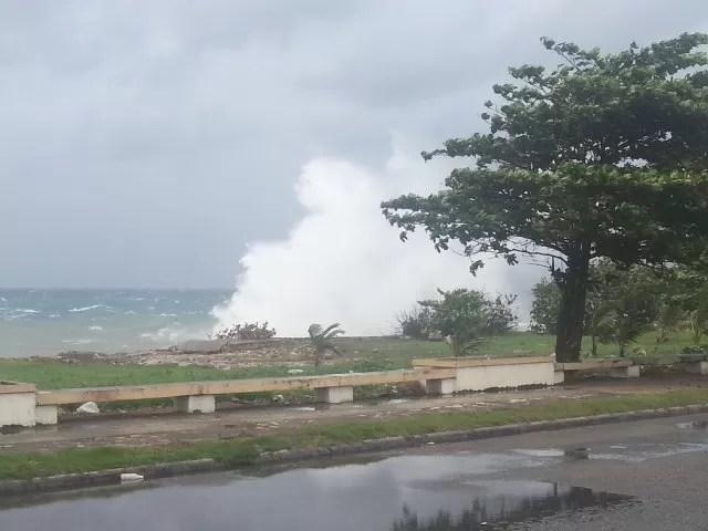 Oleaje anormal provocado por la tormenta Tropical Isaac
