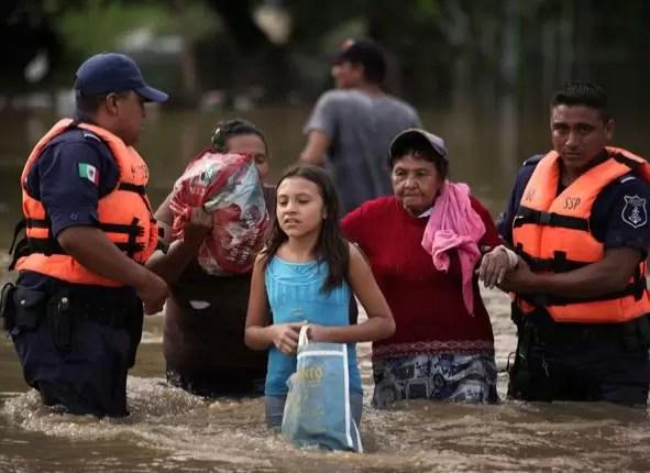 huracan tormenta lluvia inundacion mexico