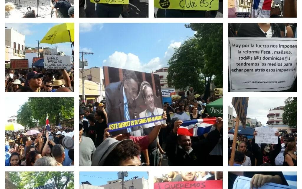 Miles de dominicanos acuden en masa a expresar su repudio contra la Reforma Fiscal