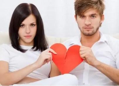 pareja corazon roto