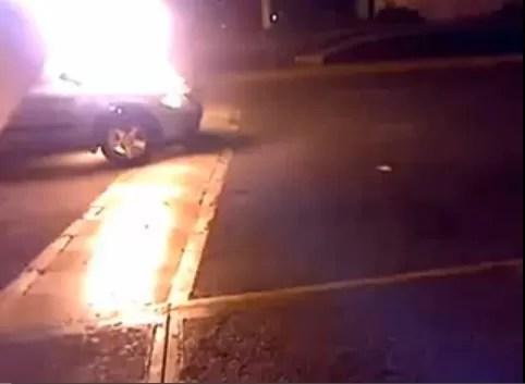 Vehículo se quemó en el Aeropuerto de Las Américas (video)
