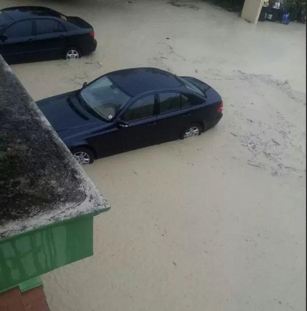 Charcos de hoy previo al acertamiento de la tormenta Chantal