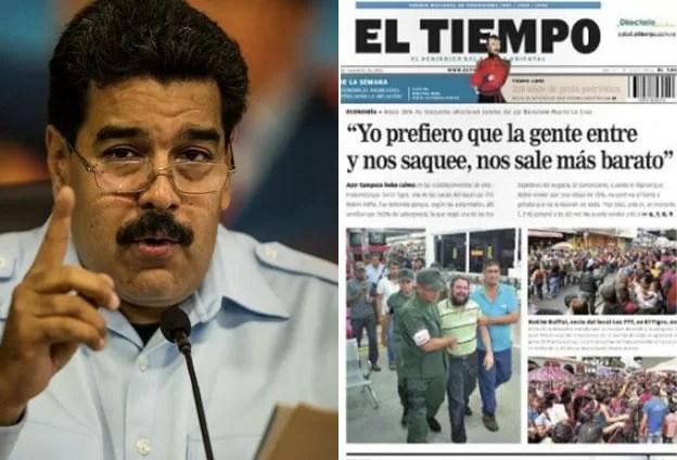 Maduro demandará a diario que mostró a empresario llorando por su negocio