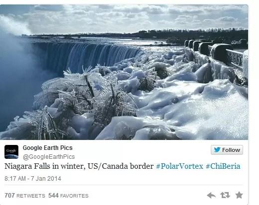Se congelaron las cataratas del Niágara (Foto)