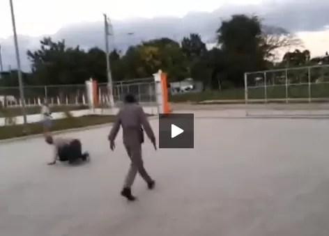 Video agente PN le dispara a un hombre en San Juan