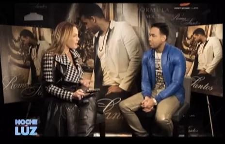 Romeo Santos y Luz Garcia Entrevista 2014 en Noche De Luz