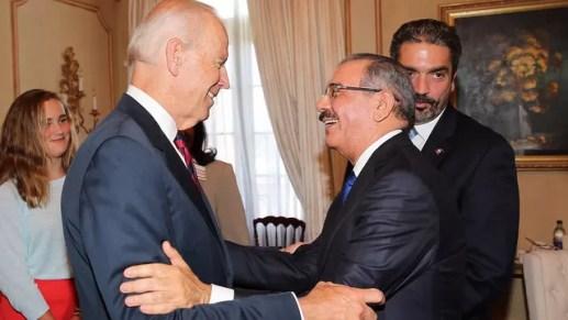 Joe Biden y Danilo Medina
