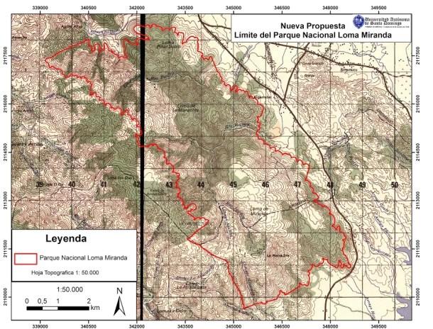 Loma Miranda Mapa