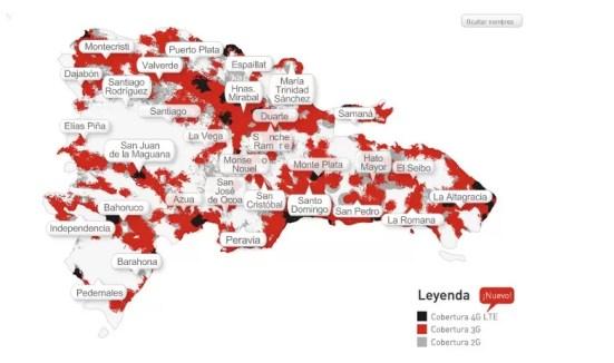 Mapa 4G