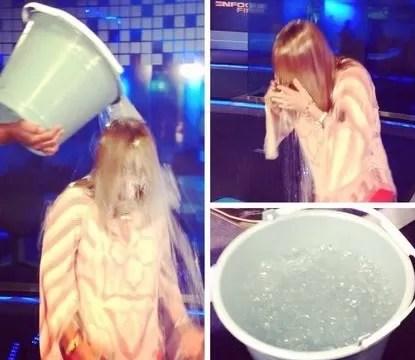 Nuria Piera supera el reto de cubetazo agua helada y reta a Danilo