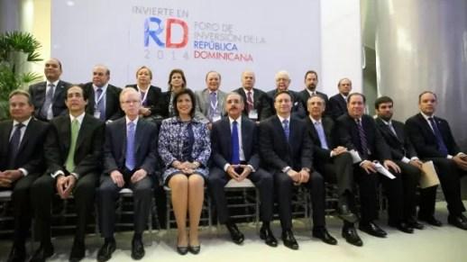 Danilo Medina con los empresarios