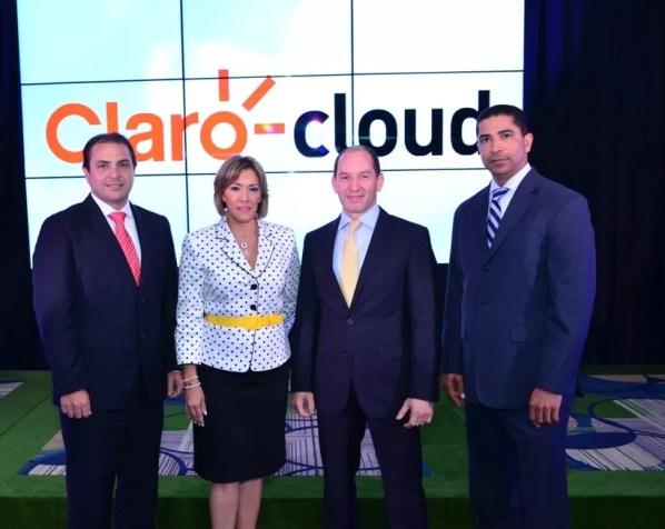 Walter Schall, Miguelina Fajardo, Omar Acosta y Virgilio Castillo