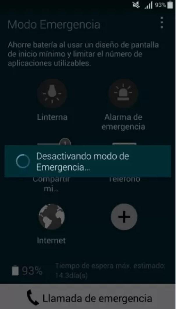 Modo de emergencia